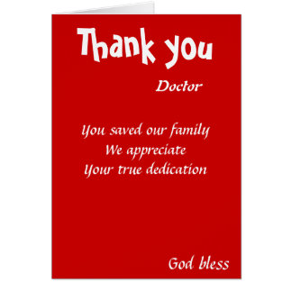 you saved our family doctor card