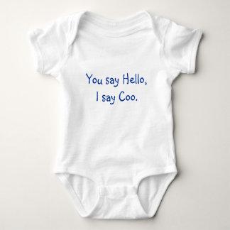 You Say Hello, I Say Coo. Baby Bodysuit