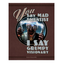 YOU Say Mad Scientist... poster (16x20