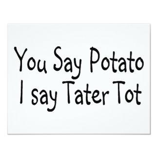 You Say Potato I Say Potato Tot 4.25x5.5 Paper Invitation Card