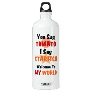 You Say Tomato I say Starfish Aluminum Water Bottle