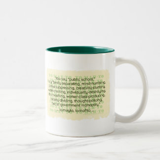 You Say Tomato Two-Tone Coffee Mug