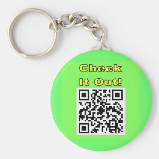 You Scan Mine and I'll Scan Yours!  Qr Message Keychain