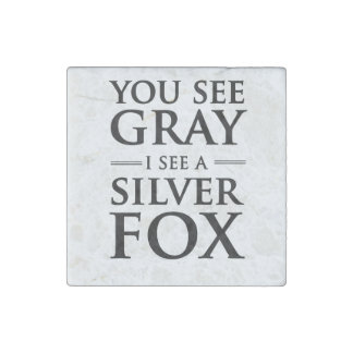 You See Gray, I See a Silver Fox Stone Magnet