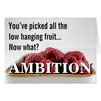 You seem to have no ambition in life greeting card