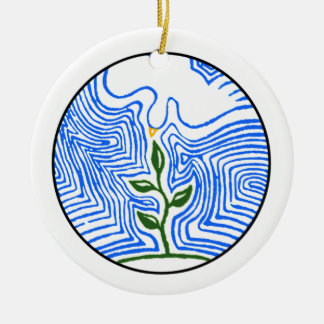 """""""You send your spirit and renew the earth"""" Ceramic Ornament"""