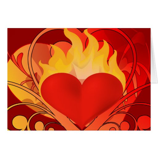 You Set My Heart on Fire - Greeting Card