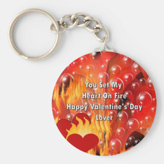 You Set My Heart On Fire Happy Valentine's Da Keychain