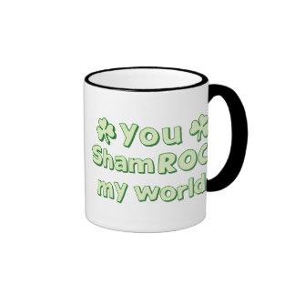 You ShamROCK My World Ringer Mug