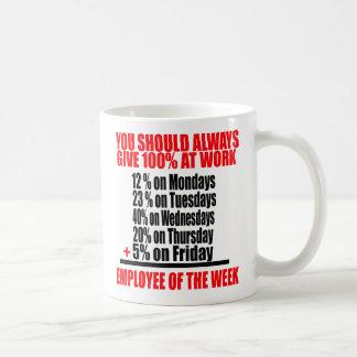 You Should Always Give 100 % At Work -- Tee Coffee Mug