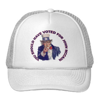 You Should Have Voted for John McCain Mesh Hats