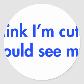 you-should-see-my-aunt-fut-blue.png classic round sticker