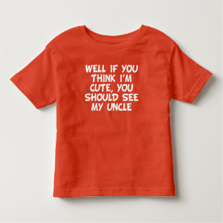 You Should See My Uncle Toddler T-shirt