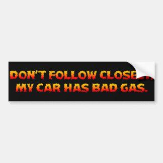 You Should Stop Tailgating Bumpersticker Bumper Sticker