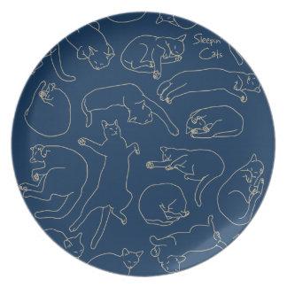 < You sleep, the cat (beige) > Sleeping cat (beige Dinner Plate