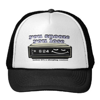 you snooze you lose trucker hat