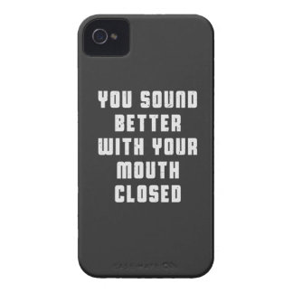 You sound better with your mouth closed Case-Mate iPhone 4 case