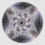You Spin Me Round - Fractal Art Classic Round Sticker