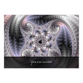 "You Spin Me Round - Fractal Art 5"" X 7"" Invitation Card"