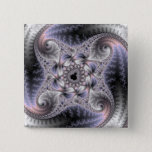 You Spin Me Round - Fractal Art Pinback Button