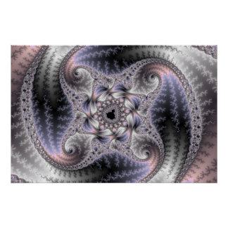 You Spin Me Round - Fractal Art Poster