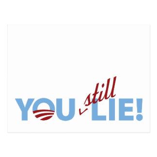 You Still Lie! Postcard