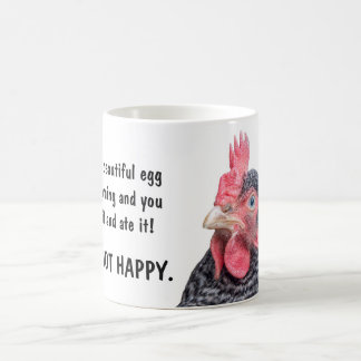 You stole my egg and ate it - Grumpy Chicken Classic White Coffee Mug
