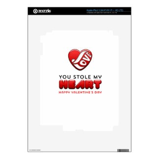 You stole my heart - Happy Valentine's Day Decals For iPad 3