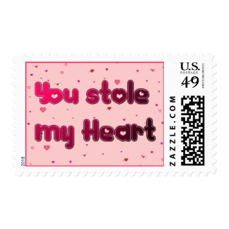 You Stole My heart Postage Stamp
