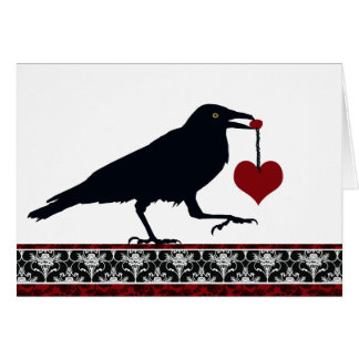 You Stole My Heart Raven Card