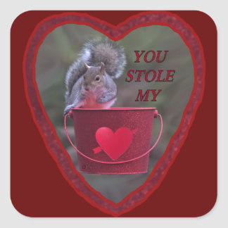 """""""You Stole My Heart!"""" Square Sticker"""