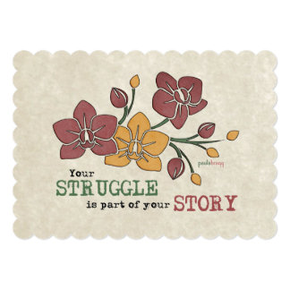 You Struggle is part of your Story Recovery Quote Card