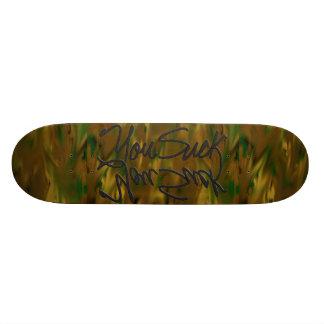 You Suck - subliminal camo skateboard deck