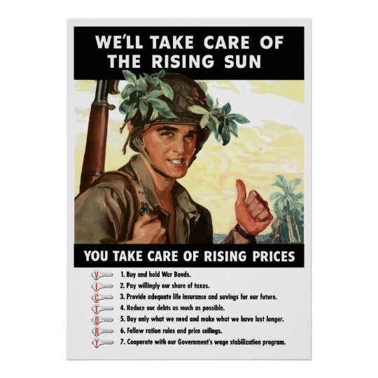 You Take Care Of Rising Prices -- WW2 Poster