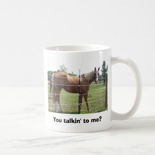You talkin' to me? classic white coffee mug