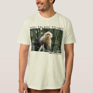You talking to me?  Capuchin monkey Tees
