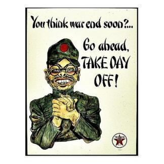 You Think War End Soon? Postcard
