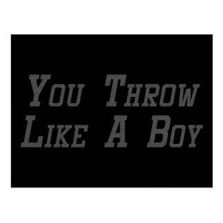 You Throw Like a Boy Postcard