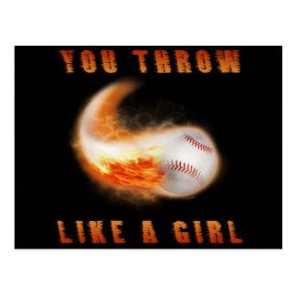 You Throw Like a Girl Postcard