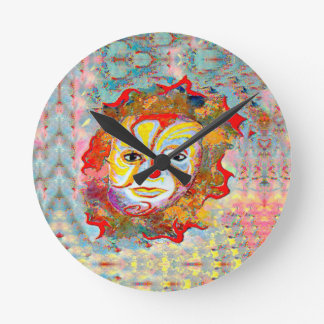 YOU TO ALLEVIATE BY LOOKING AT THE CLOWN ROUND CLOCK