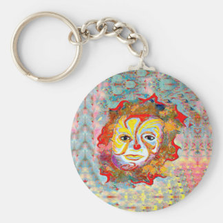 YOU TO ALLEVIATE BY LOOKING AT THIS CLOWN BASIC ROUND BUTTON KEYCHAIN