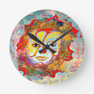 YOU TO ALLEVIATE BY LOOKING AT THIS CLOWN ROUND CLOCK