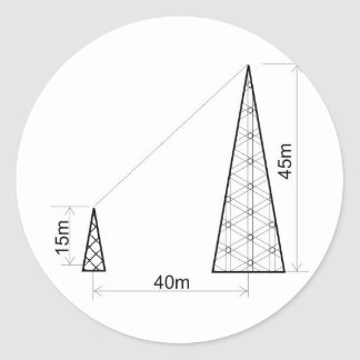 you torres of antennas measured by quotas illustra classic round sticker