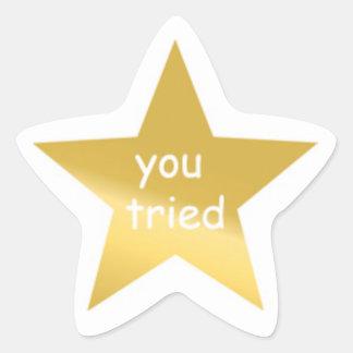 You Tried Sticker