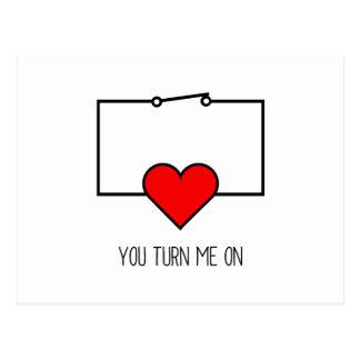 You Turn Me On Postcard