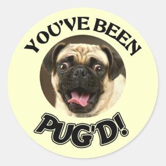 YOU VE BEEN PUG D - FUNNY PUG DOG STICKER
