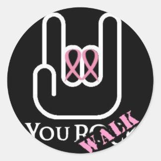 You Walk - You Rock Classic Round Sticker
