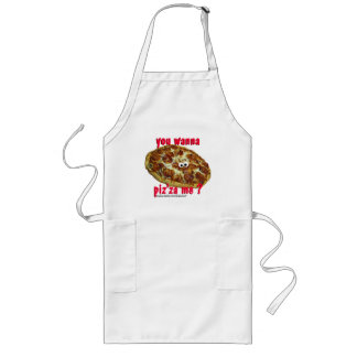 you wanna piz za me humorous parody apron
