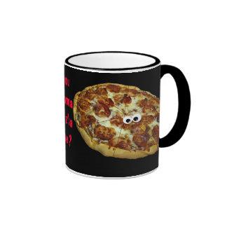 'you wanna piz'za me?' humorous parody Mug