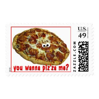 'you wanna piz'za me?' humorous parody Postage